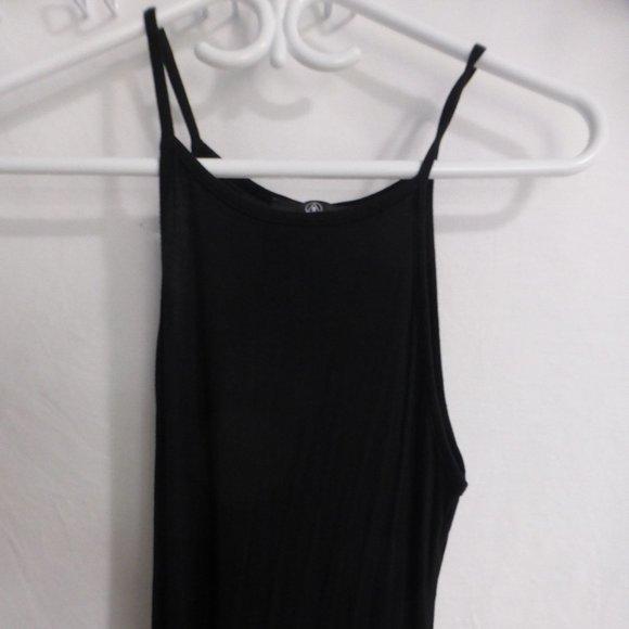 M long black spaghetti strap dress, size 0 BNWOT